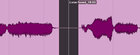 Separation within a clip in Avid Pro Tools