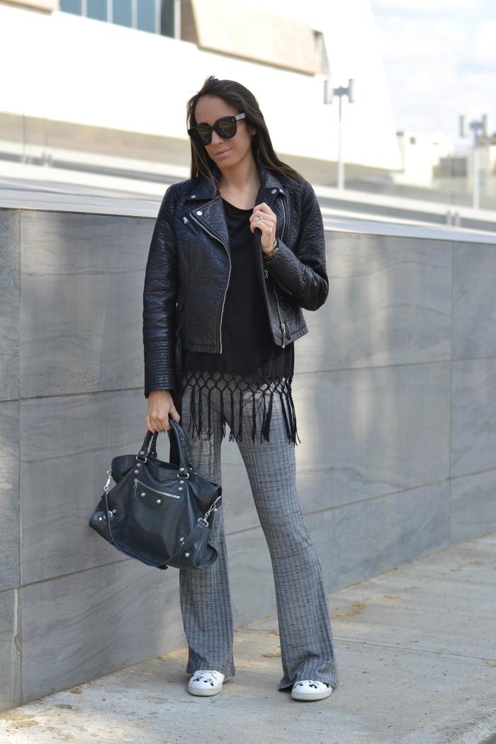 pantaloni viscosa costine