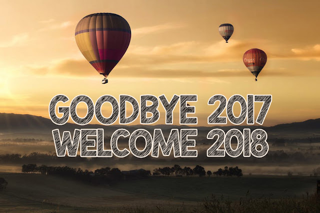 Good Bye 2017 Welcome 2018 New Year