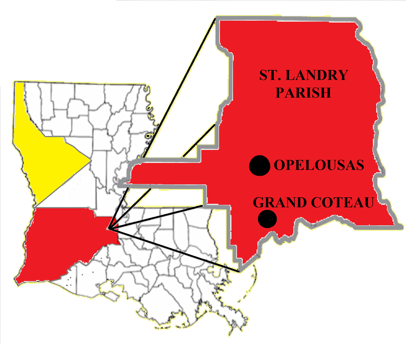 st landry parish boundaries in 1810 most of the other parishes on the map show current boundaries the enhancement is the western portion of st landry