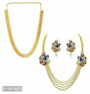 Two Necklace Set With Earrings