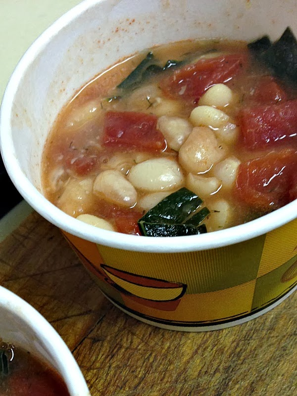 kale and white bean soup -Promise of Peace Community Garden