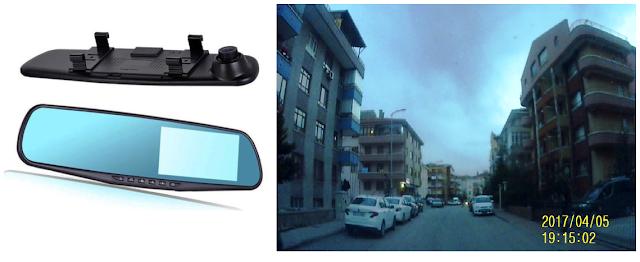 4.3 LCD ekranlı 5MP Gece Görüşlü Full HD Araç Kamerası