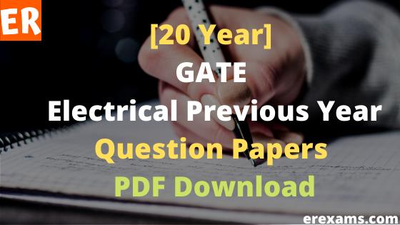 GATE Electrical Previous Year PDF