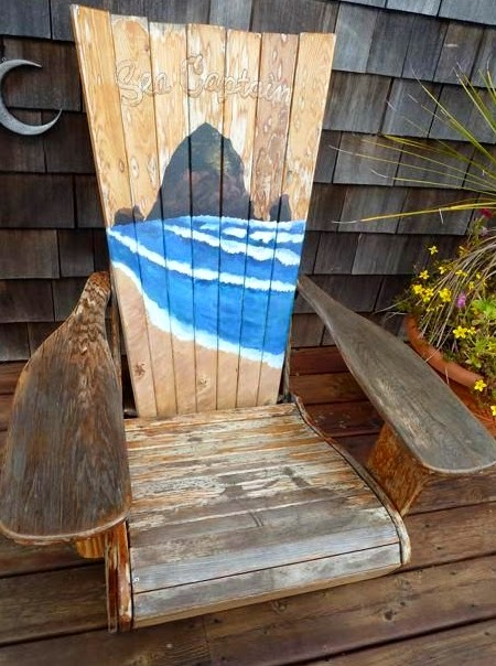 painted sea captain Adirondack chair