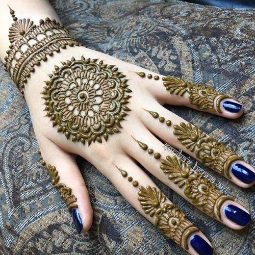 Pakistani Eid Finger Mehndi Design 2018