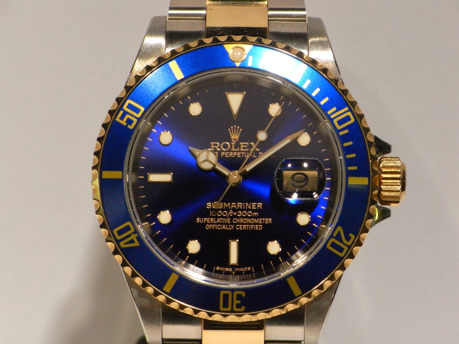 勞力士二手錶行: ROLEX SUBMARINER 16613LB