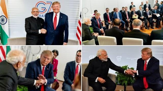 Donald Trump : Great meeting with my friend Narendra Modi
