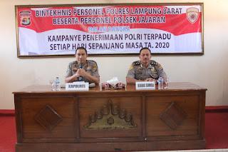 Polres Lambar Sosialisasikan Penerimaan Anggota Polri Baru Tahun 2020