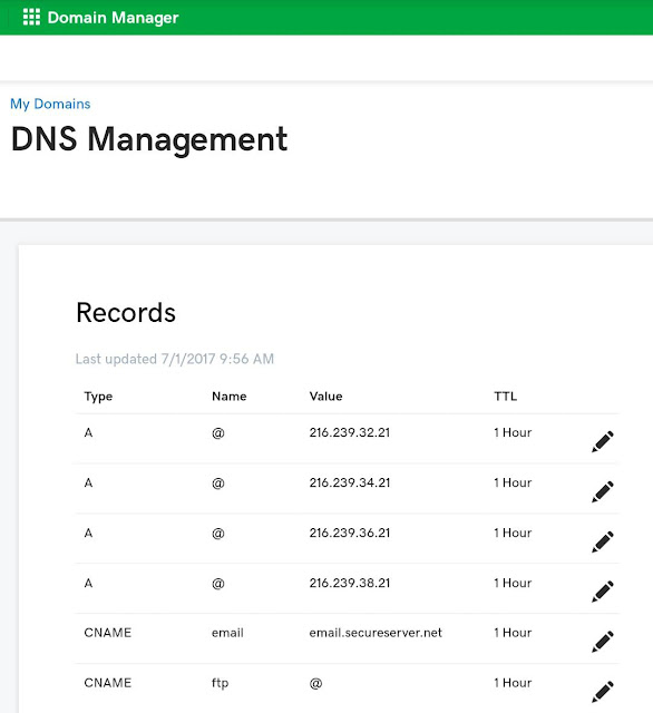 Check DNS settings of your domain