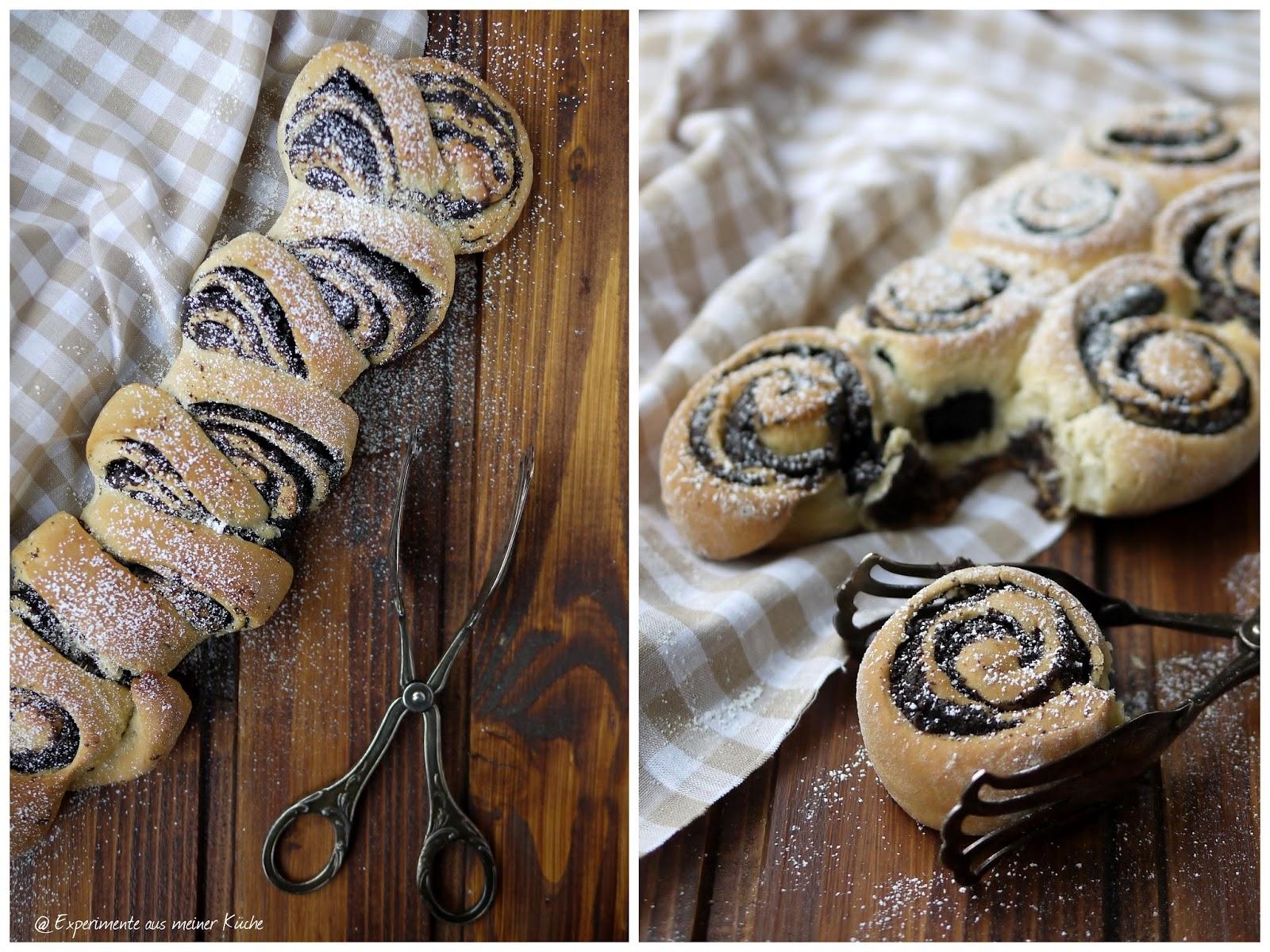 Experimente aus meiner Küche: Hefeschnecken mit Mohn-Füllung