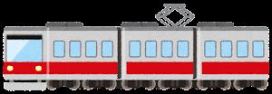 電車のイラスト(赤)