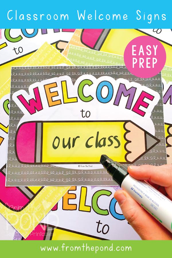 Welcome Sign For Classroom Door : welcome, classroom, Pond:, Classroom, Welcome, Signs
