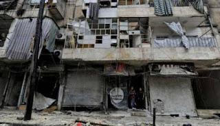 Bangunan hancur di Suriah