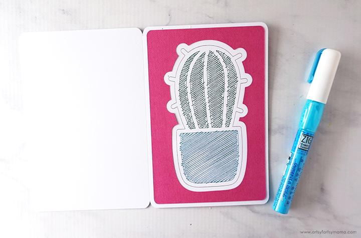 Cricut Foil Cactus Card Glue