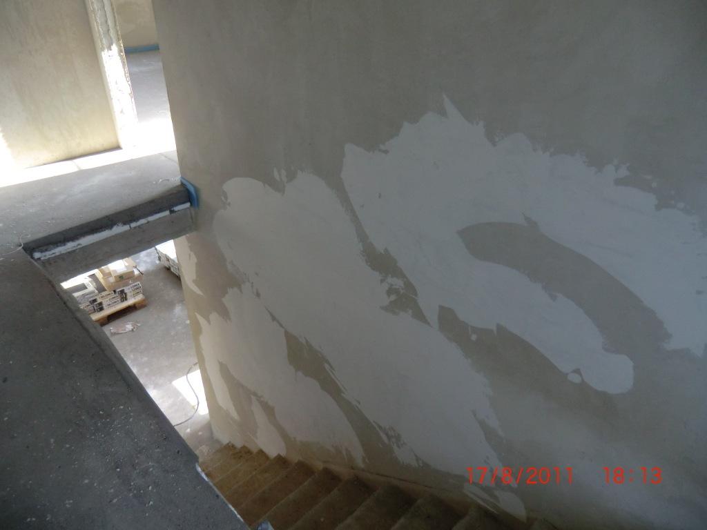 Jenny und Stefan bauen ein Haus Die Maler sind da  Spachtelarbeiten