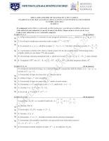 Subiecte matematica(pedagogic) - simulare bacalaureat Bucuresti 2013