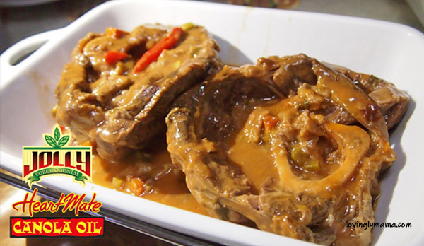 osso buco recipe - homecooking - from my kitchen - Bacolod mommy blogger - Jolly Heart Mate Canola Oil
