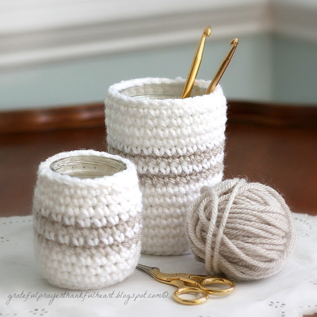 crochet cozy for jars