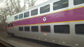 MBTA commuter rail enroute to Boston