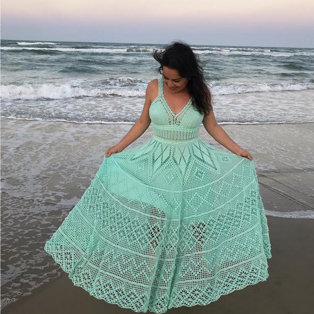Modelos de vestidos de crochê