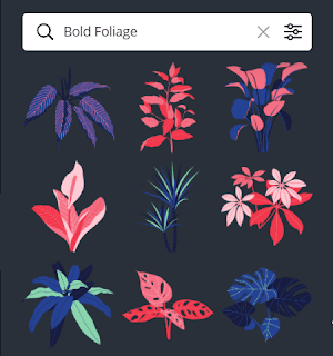 Element Canva Bold Foliage