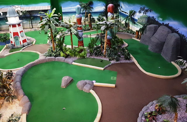The Tiki Hut Trail course at Paradise Island Adventure Golf in the Trafford Centre, Manchester