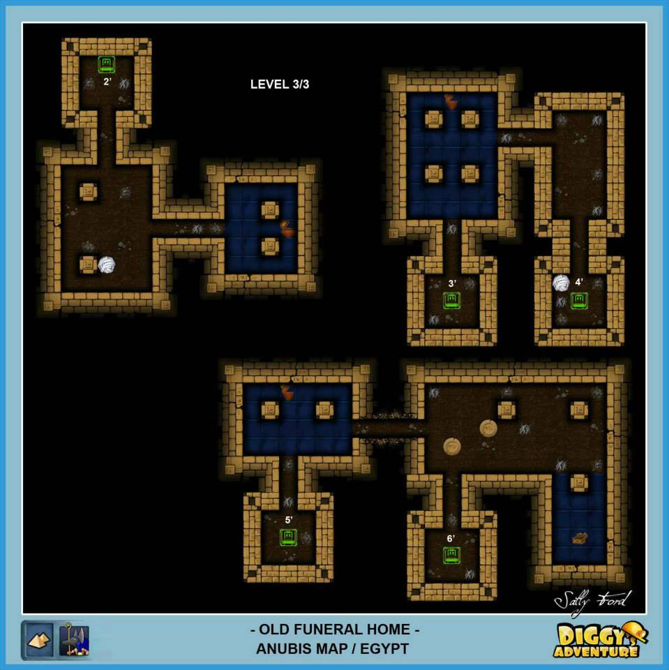 Diggy's Adventure Walkthrough: Anubis Egypt Quests / Old Funeral Home