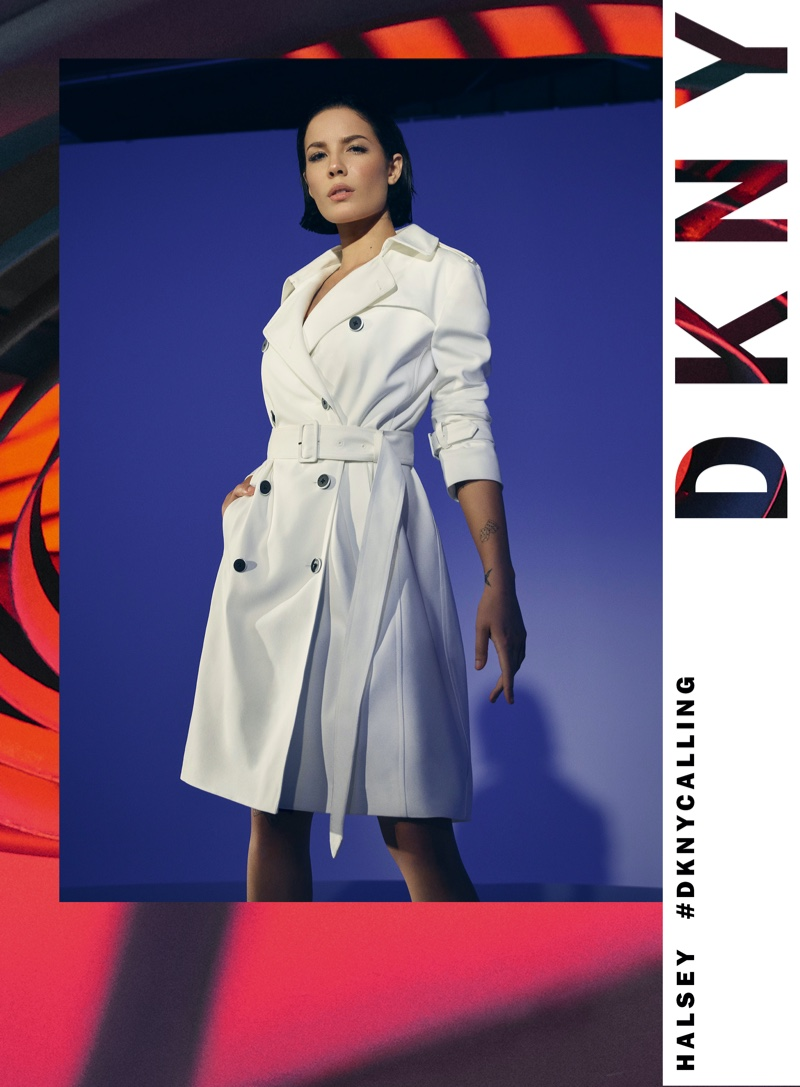 Halsey poses for DKNY spring-summer 2020 campaign