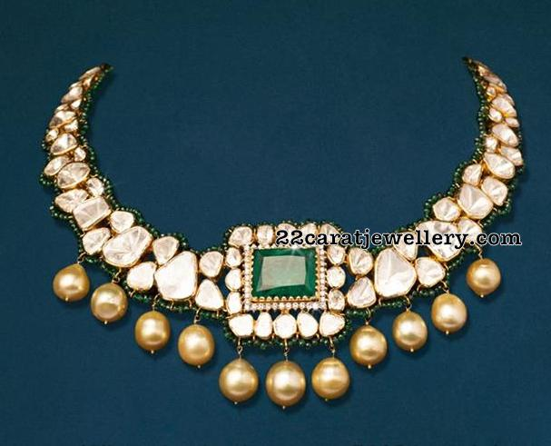 Large Diamonds Pachi Set with Beads
