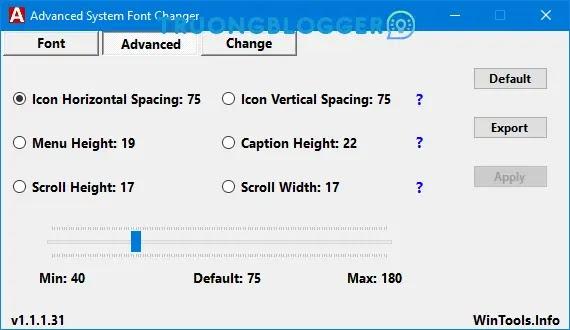 Thay đổi Phông chữ Hệ thống trong Windows 10