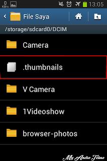 cara menghapus thumbnails di android secara permanen tanpa root