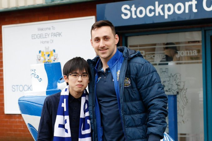 Fan Akito Aoki travels from Japan to watch non-league side - whom he found from playing FIFA