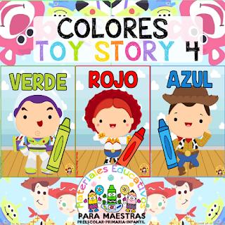 Carteles Colores de Toy Story