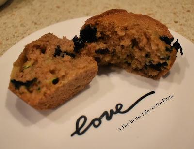 Zucchini Blueberry Muffin
