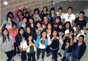 Pupils of Pierre Elliott Trudeau High School in Markham, Ontario