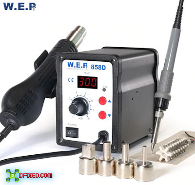 WEP 858D SMD Rework Station Solder Uap