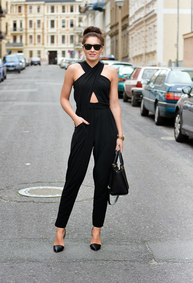 Wearing a Black Jumpsuit with Bun