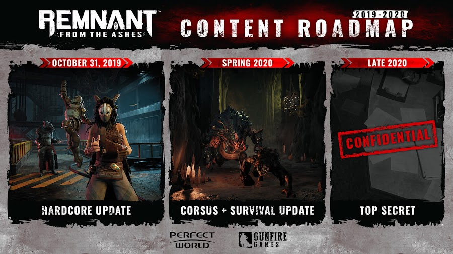 remnant from the ashes 2019 2020 post launch content roadmap gunfire games