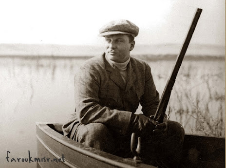 Young King Farouk on a hunting trip
