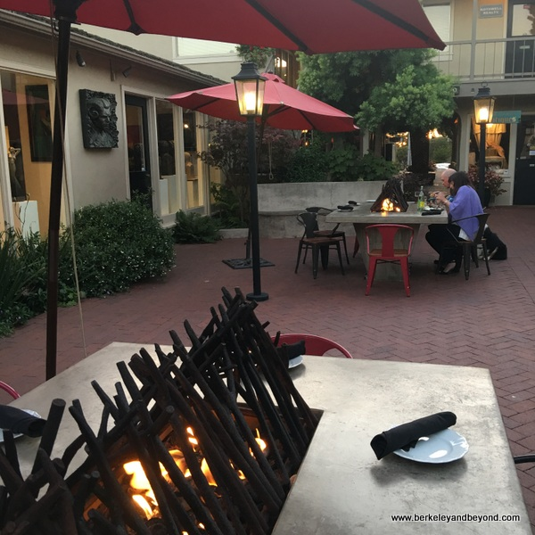 firepit tables at Cultura restaurant in Carmel, California