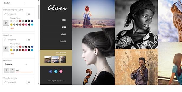 Oliver   Photography Blogger Theme, Gobase64