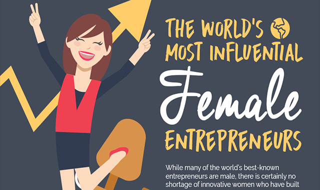 9 Of the world's most successful female entrepreneurs #infographic