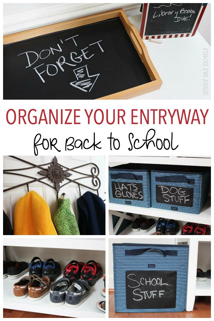 Get ready for back to school by creating a family drop zone! Get inspiration and see the essentials you need to have an organized entryway for all your kids' gear