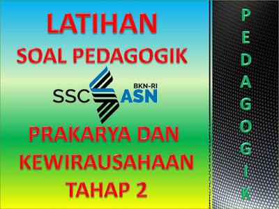 Soal Pedagogik PPPK Guru Mata Pelajaran Prakarya dan Kewirausahaan (PKWU) Tahap 2