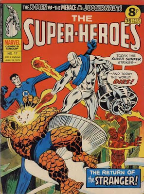 Marvel UK, The Super-Heroes #17, Silver Surfer vs the Fantastic Four