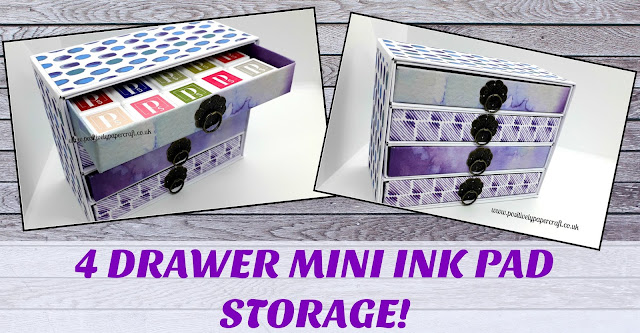 Mini ink pad storage unit