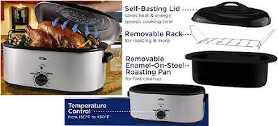 22-Quart Oster Steam-Cooker Oven Roaster - Kitchen Appliances
