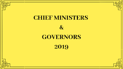 Chief Ministers and Governors list 2019