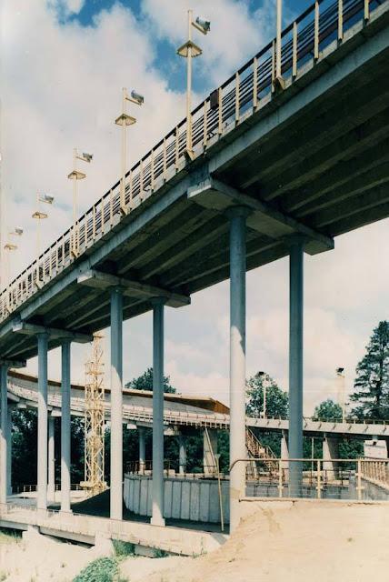 Эстакада санно-бобслейной трассы (фото по окончании строительства)